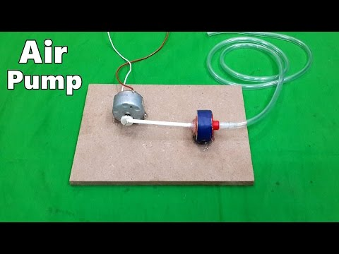How to Make a Mini Electric Air Pump for Home Aquarium - DIY