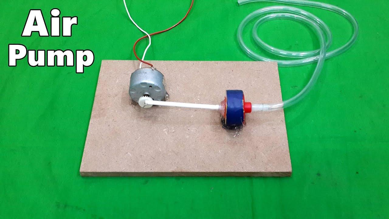 How To Make A Mini Electric Air Pump For Home Aquarium Diy Youtube Tire Compressor 12 Volt Light Wiring Diagram