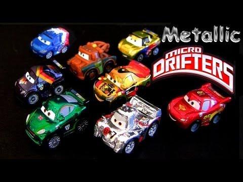 8 Micro Drifters Metallic Finish Cars 2 Miguel Camino Mater Lightning Mcqueen Shu Todoroki Toys
