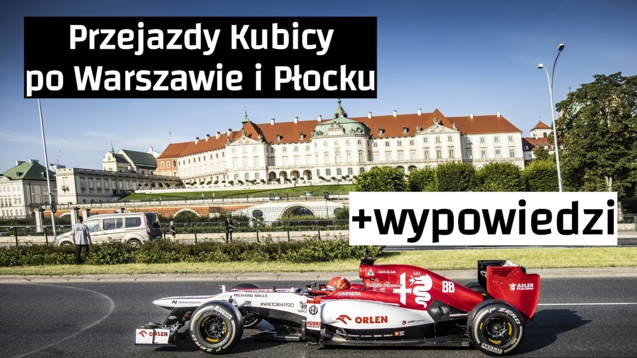 Kubica upalał bolid F1 - nagrnia PKN ORLEN i kibiców