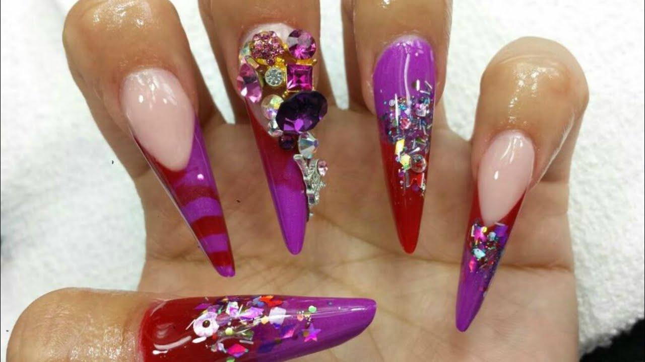 Almendra rusa / Russian almond nails /uñas acrílicas /luliz nails ...