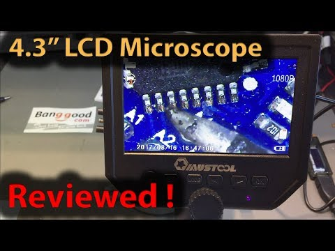 #281 Mustool G600 4.3 Inch LCD Microscope Review and Silicon Soldering Mat Review