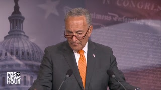 WATCH: Democratic Minority Leader Chuck Schumer holds news briefing