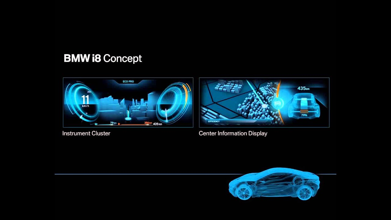 Bmw I8 Concept Interface Design Youtube