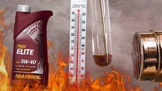 Mannol Elite 5W40 Jak czysty jest olej silnikowy? 3x 250°C