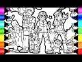 Ash Brock and Mae Pokemon friends coloring book I fun Colouring videos for children