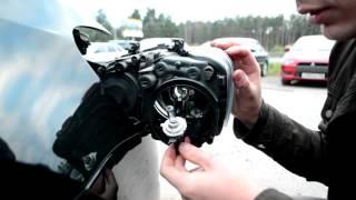 Замена лампы ближнего или дальнего света, а так же снятие передней блок фары на Фольксвагене ПОЛО