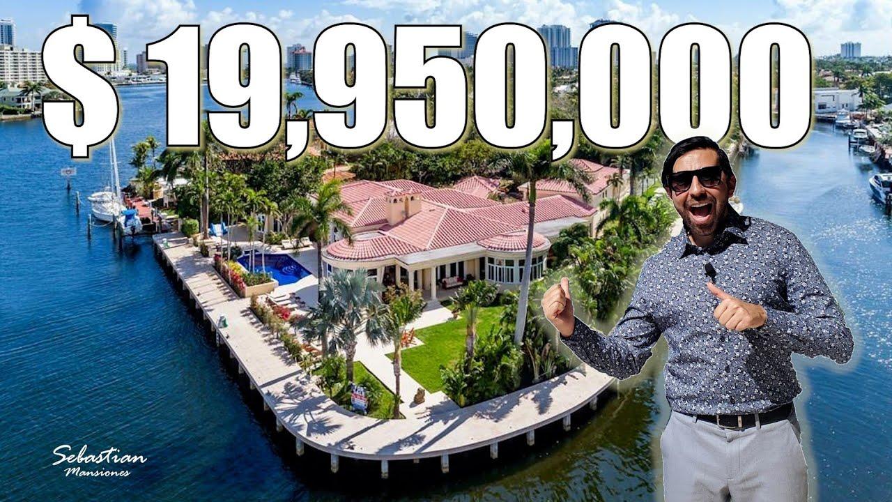 VENDO MANSION DE $19,995,000 de DOLARES RODEADA DE AGUA, Espacio Suficiente Para Tu MEGA YATE !!!!