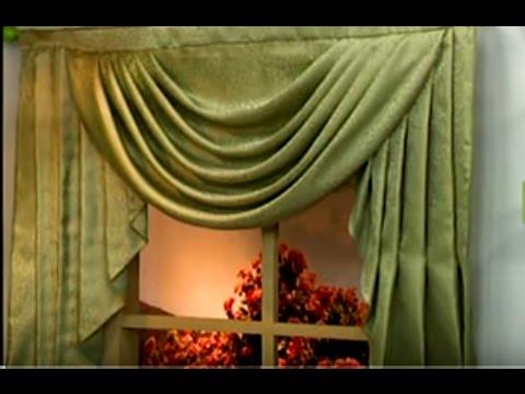 Como hacer un drapeado con cascadas patron pino 1 5 - Como hacer un bando para cortinas ...