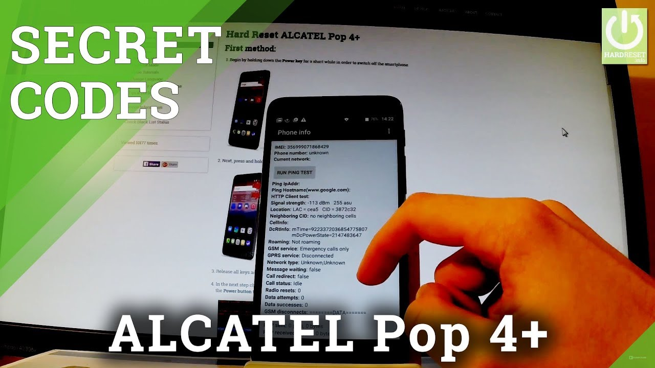 CODES in ALCATEL Pop 4+ - Secret Features / Hidden Menu / Tricks