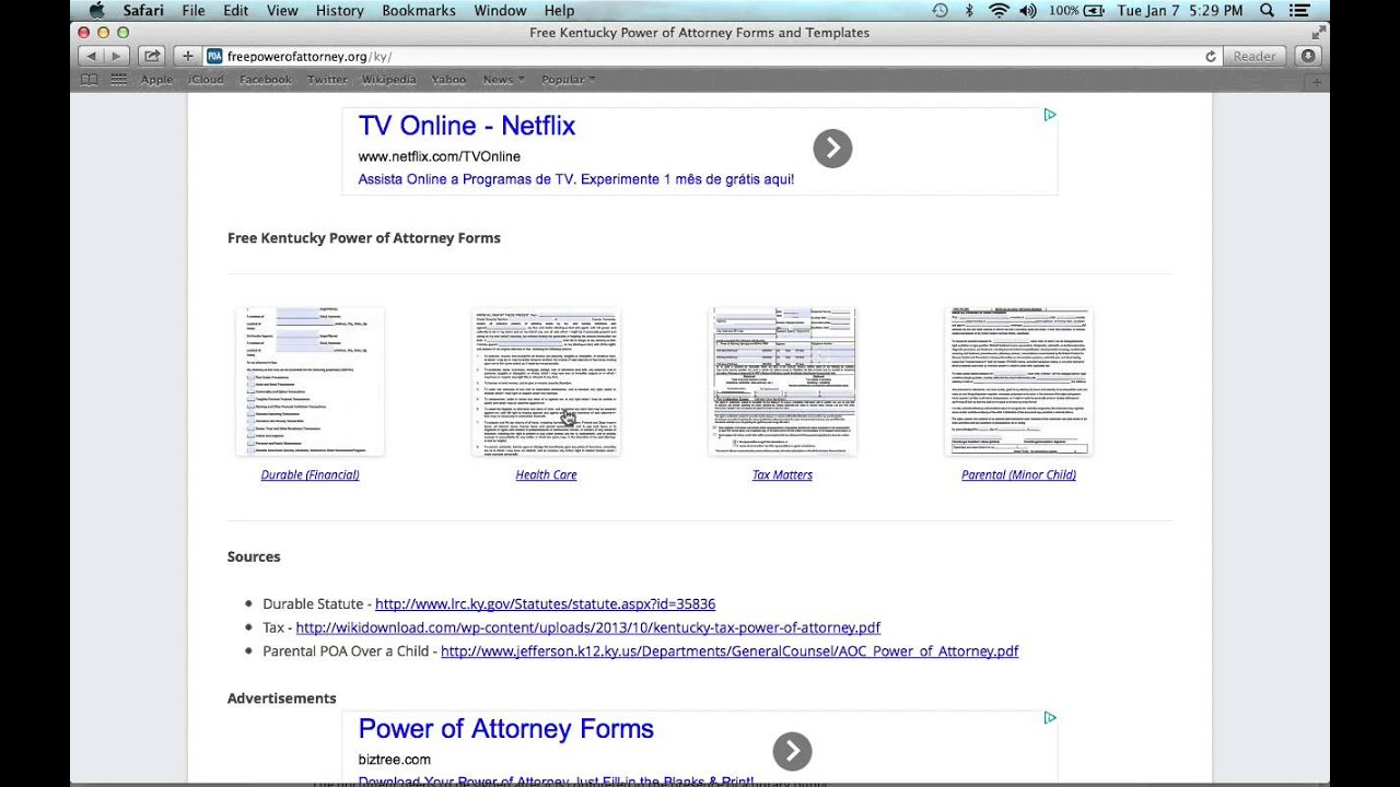How To Write A Kentucky Power Of Attorney Form Youtube