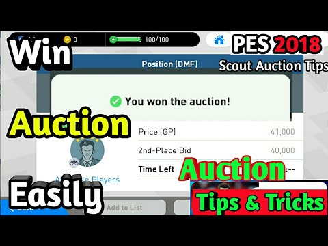 PES 2019 MOBILE Auction Tips and Tricks
