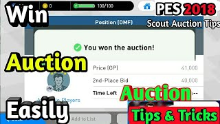 Pes 2018 Mobile Auction Tips and Tricks