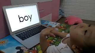 Nhật ký học tiếng Anh Monkey junior của chị Đại 1 tuổi ngày 16-05-2019