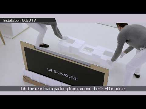 How to install LG SIGNATURE OLED TV W
