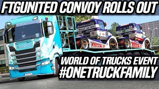 World of Trucks Event | Delivering Race Trucks | ETS2 Multiplayer Gameplay