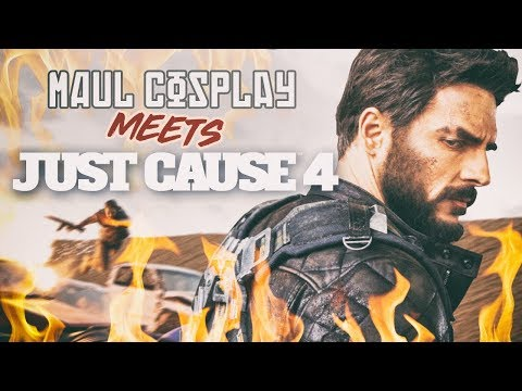 Cosplayer gets catapulted over exploding cars 🔥 MAUL COSPLAY x JUST CAUSE 4 ❕Maul X Maja |