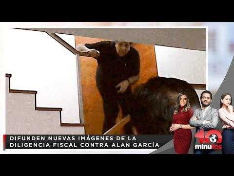 Difunden imágenes de la diligencia fiscal contra Alan García - 10 minutos Edición Matinal