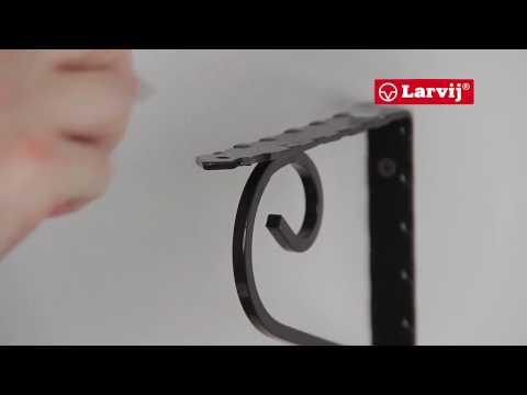 Установка стеклянной полки на декоративный кронштейн