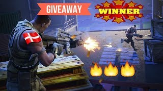 WINNERS GIVEAWAY!! - Gaming With Danish People! - Fortnite