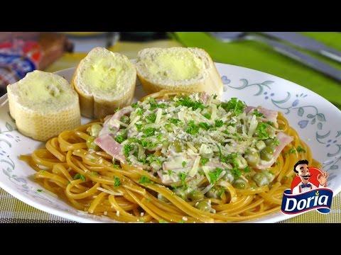 Spaghetti Doria Sabor Ranchero con Jamón y Arvejas