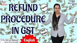 Gst Series  English    Gst Refund Process  Gst Rfd 01a    Ca Divya Bansal   Tax Without Tears