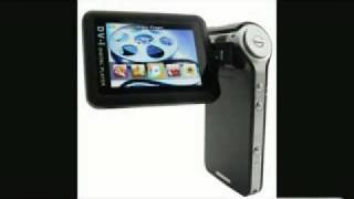 Portable media player and digital camera, 4 GB of memory and 2.5-inch LCD swivel screen