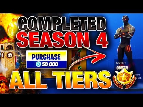 UNLOCKING/BUYING ALL NEW SEASON 4 FORTNITE ITEMS! 100 TIER BATTLE PASS NEW ITEM SHOWCASE! THE OMEGA!