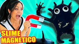 SLIME THAT MOVES! How to make a MAGNETIC SLIME MONSTER | SandraCiresArt