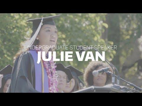 Julie Van: 2017 Undergraduate Student Speaker