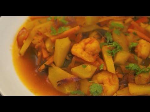 Paano magluto Ginisang Sayote Hipon Recipe - Pinoy Shrimp Filipino Prawn - Tagalog