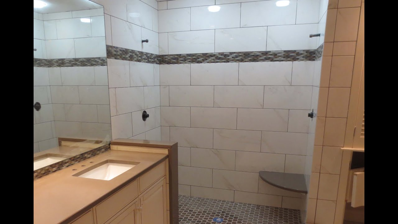 Complete Tile Shower Install Part 5 Installing The Wall Tile With MLT.