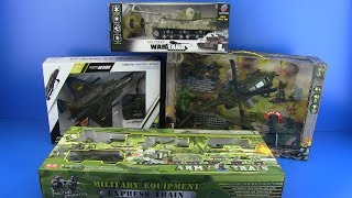 TOYS FOR KIDS ! Military toys & equipment - Army train,Tanks, Helicopter,Military Airplane
