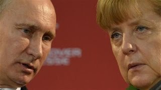 From youtube.com: German Chancellor Angela Merkel and Russian President Vladimir Putin {MID-292177}