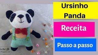 Urso Panda amigurumi no Elo7 | Crochetados por Angela Witt (ABDAFA) | 180x320