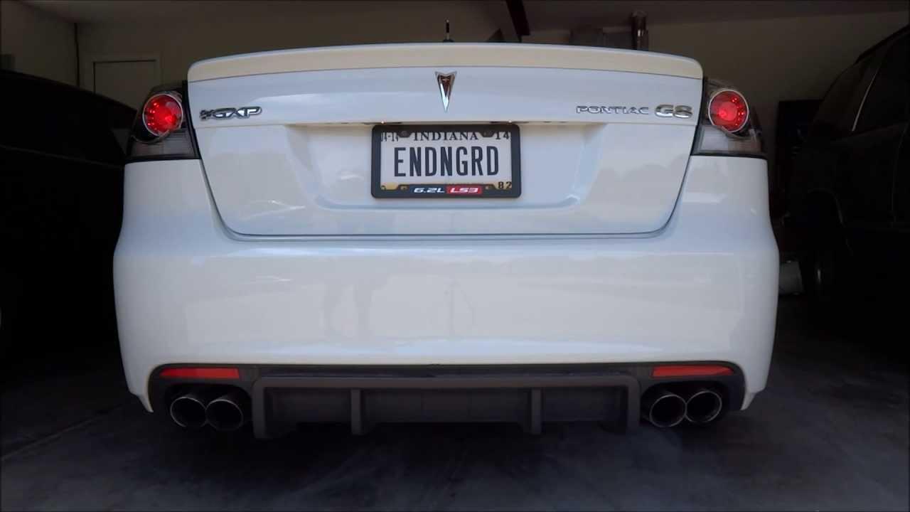 pontiac g8 gxp stock exhaust vs corsa exhaust cai