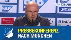 Die Pressekonferenz nach dem Bundesligaspiel gegen den FC Bayern München