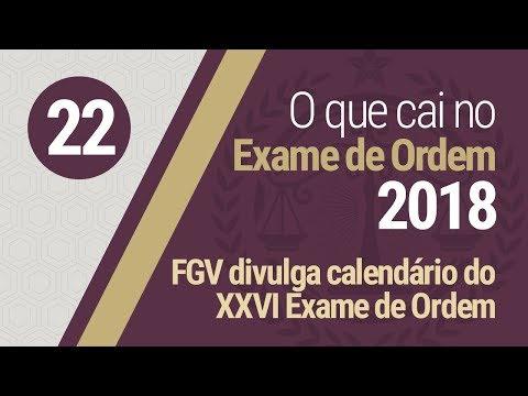 FGV divulga calendário do XXVI Exame de Ordem