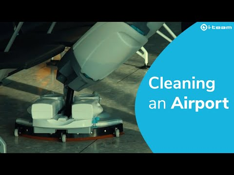 How To Clean An Airport? The i-mop @ Heathrow Airport