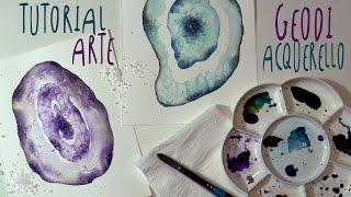 Tutorial ACQUERELLO: come dipingere i GEODI con la tecnica del sale by ART Tv