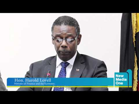 Min. Finance First Quarterly Press Conference: Harold Lovell Remarks