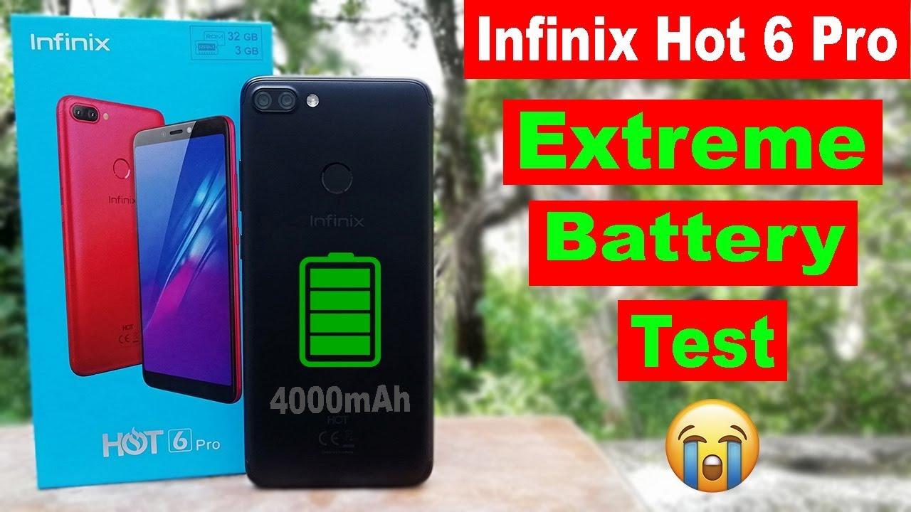 Infinix Hot 6 Pro Extreme Battery Drain Test | Heavy Use 100-0% Battery  Drain | 400mAh Battery😭😭
