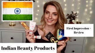Indian Beauty Products |  German give first impression + review || Jeanette Draeger