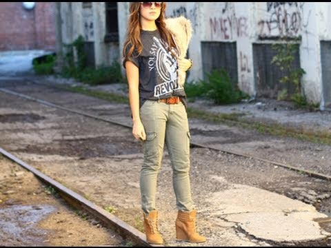 Womens Fashion Cargo Pants