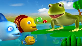 Mendak aur Machli 3D Animated Hindi Moral Stories for Kids मेंढक और मछलियाँ कहानी Frog Fish Tales