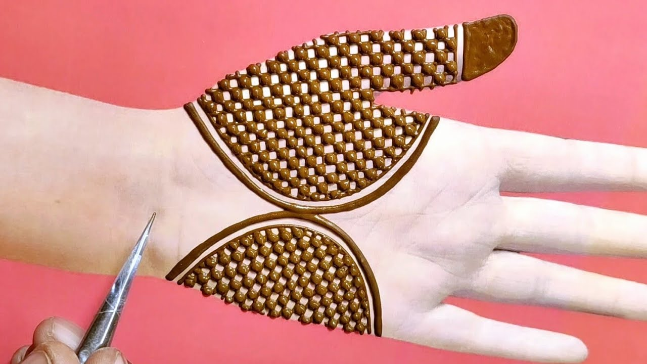 Download Amazing full hand mehndi design    Front hand dulhan mehndi design    Very easy full hand mehndi