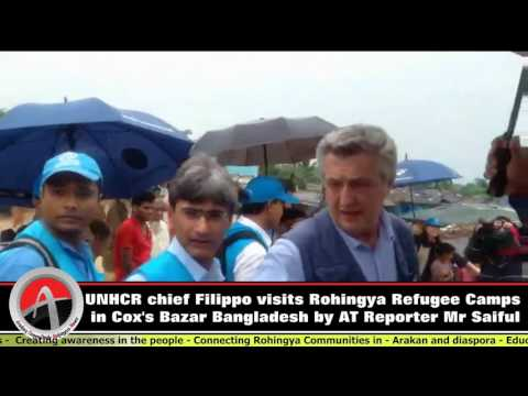 UNHCR chief Filippo visits Rohingya Refugee Camps in Cox's Bazar Bangladesh by AT Reporter Mr Saiful