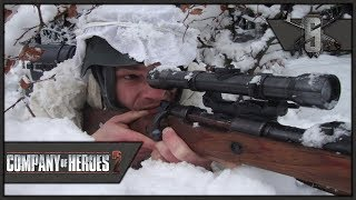 Sniping the Officers - Company of Heroes 2 - Theater of War: Barbarossa Singleplayer #5