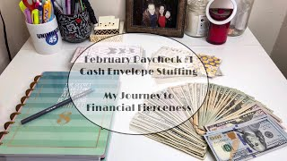 February Paycheck #1 | Cash Envelopes Stuffing | Happy Planner | $5 Dollar Challenge |