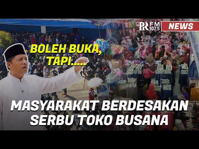 Masyarakat Berdesakan Serbu Toko Busana di Dayeuhkolot Kabupaten Bandung